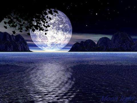 スーパームーンの月光浴